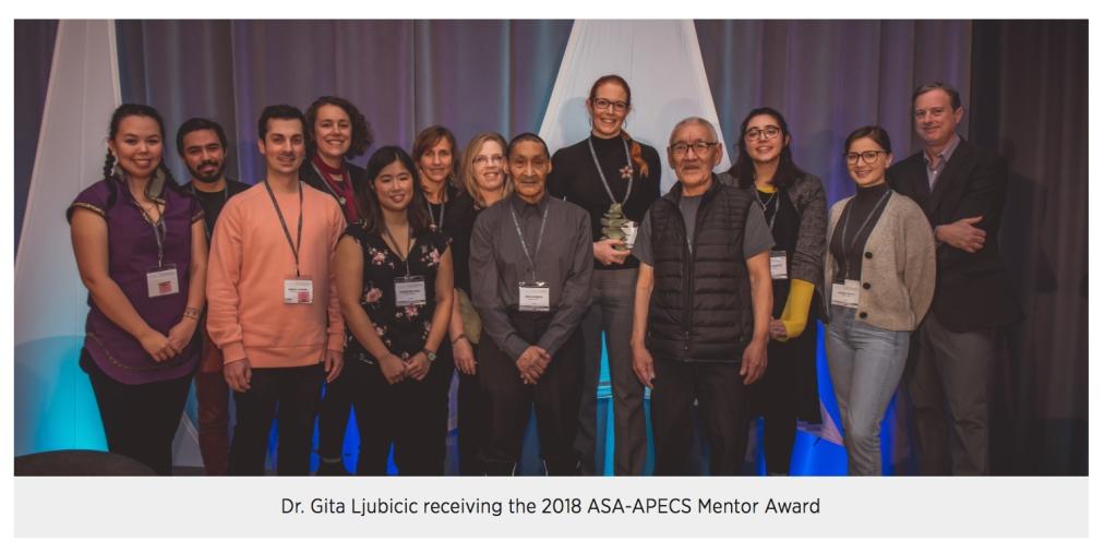 Congratulations Dr. Ljubicic on being the APECS-ASA 2018 Mentor AwardRecipient